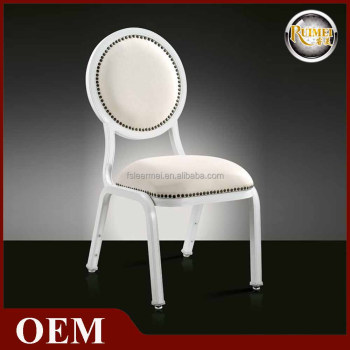 Luxury aluminium stackable chairs for restaurant coffee shop E-006