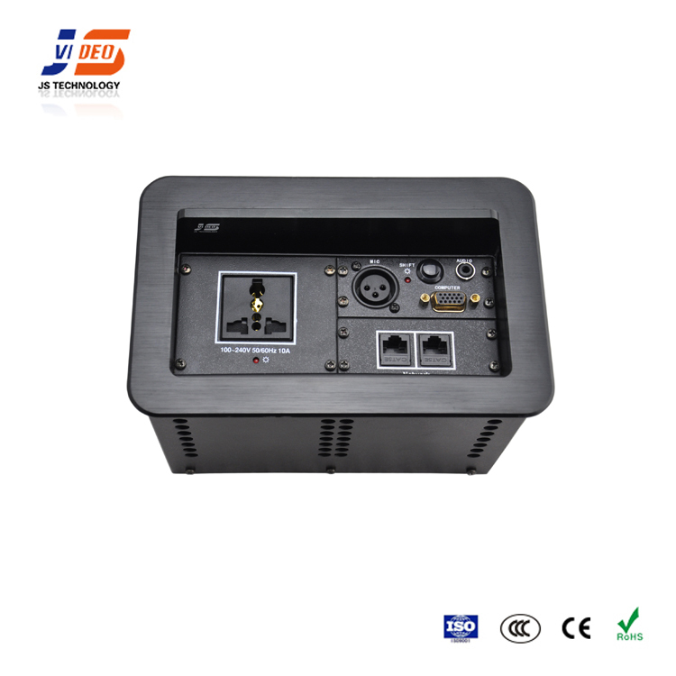 JS-620 With HDMI USB RJ11Tabletop Cable Outlet Connection Box