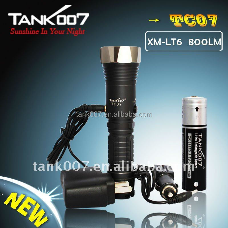 Tank007 TC07 high power Long range <strong>1000</strong> lumen rechargeable LED flashlight <strong>1000</strong> Supply