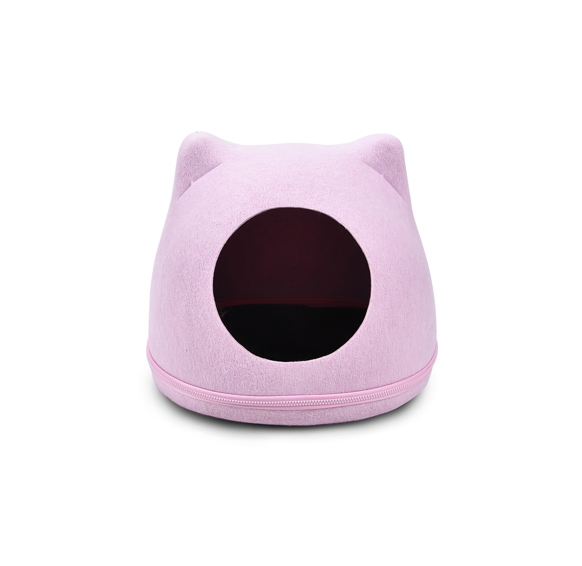 Low moq princess pink cat shaped cat bed wool felt