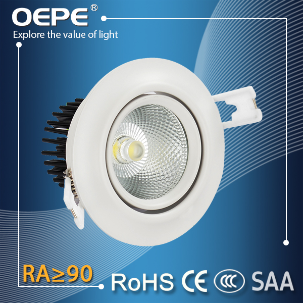 High Bright 100lm/w cob recess ceiling mount led down lights 3 w 5 w