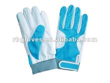 Blue Woman Elastic Cuff Protective Garden Gloves