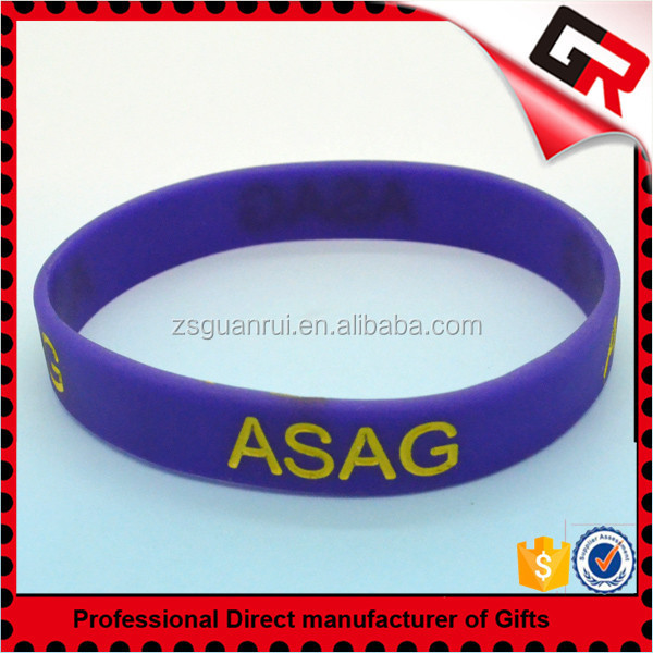 Wholesale cheap 1 inch engraved silicone bracelet