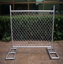 Mesh metal barricade / building construction fence / portable