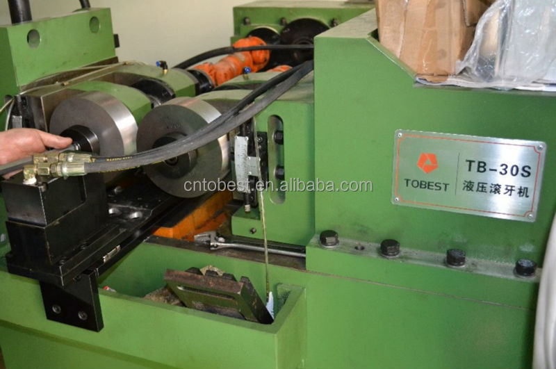 flat thread rolling dies vertical thread making machine for M4-50