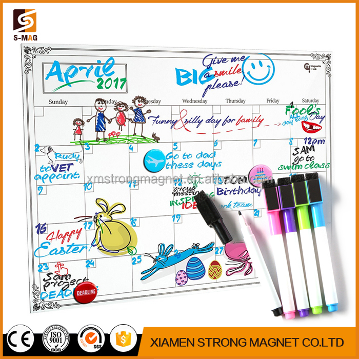 custom Monthly Magnetic Planner Calendar Dry Erase White Board for Fridge (Monthly)