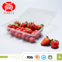 Take away disposable vegetable cherry tomatoes packaging box plastic fruit container with cover