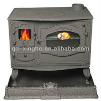 customized iron sand casting fireplace casting stove wooden cast iron fireplace