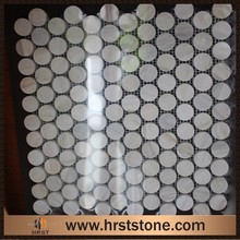 Natural pebble stone swimming pool round mosaic tile