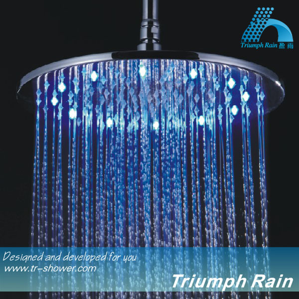JFQ044CP Round 12 inch All New Rainfall Hydro power shower head led
