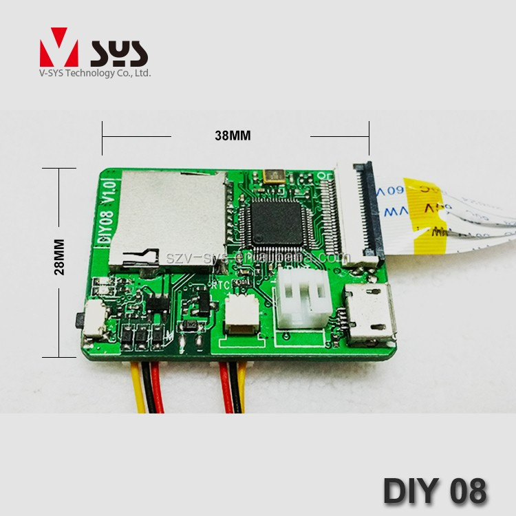 Vsys official Cheapest 28*38 mm DIY 08 HD super mini hidden camera DVR PCB module