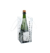 cheap plastic PVC wine cooler bag picnic ice bag