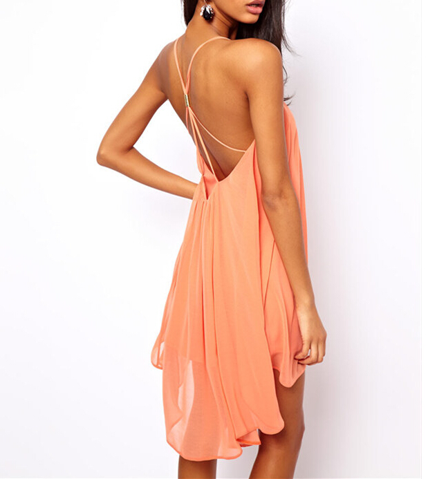 Walson 2015 Summer Dress 2015 Robe Sexy Backless Sling Strap Back ...