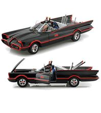 Hot Wheels ELITE 1/18 Scale 1966 Batmobile With Batman & Robin Figures Diecast Car Model BCJ95