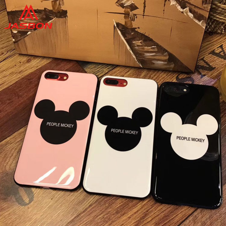 JASBON 2018 Mickey Blu-ray porcelain mobile phone case for iphone X case