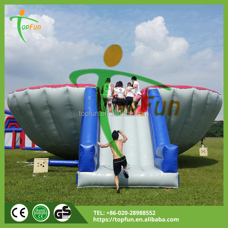 Outdoor Inflatable Obstacle Trap Bowl Playground For Racing Event