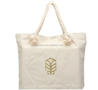 High Quality Recycled Cotton Tote Bag Blank Cotton Shopping Bag