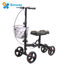 Folding Rolling About Knee Walker With 4 Wheels and Basket