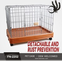 High Quality Wholesale Metal Commercial Wire Dog Cage Folding Dog Crate Plastic
