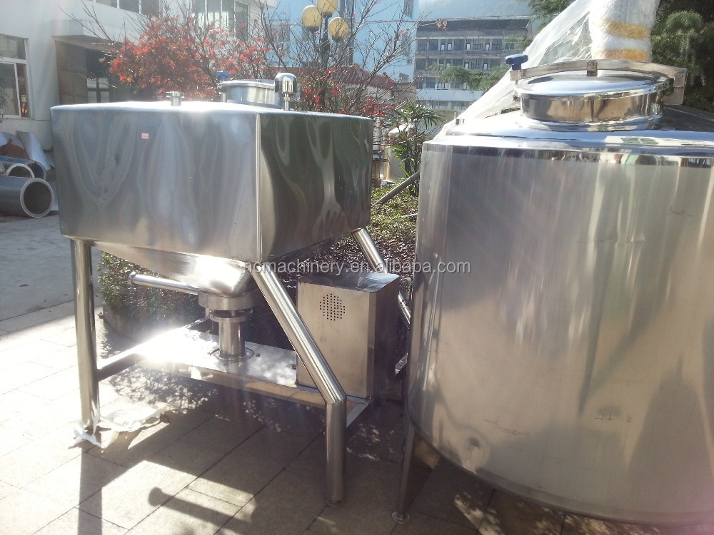 Food Sanitary Stainless Steel Powder Milk High Speed Mixing Emulsification Vat