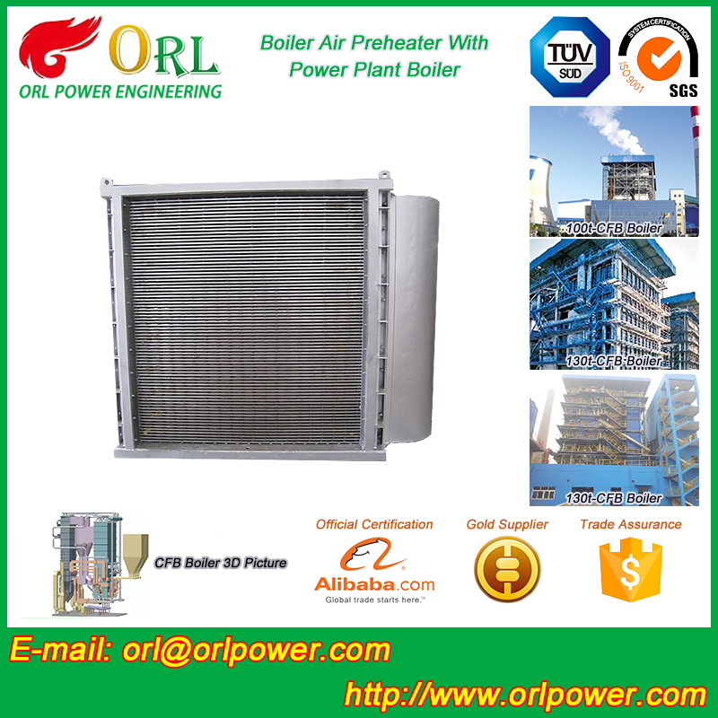 power plant boiler non-pollution ionic boiler air preheater ORL Power ISO9001 certification manufacturer