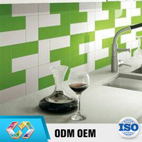 Hot Selling Product 2016 Bright Bathroom Ceramic Tiles Green Color