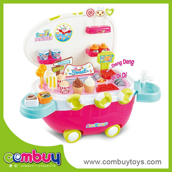New style pretend play candy toys music light mobile kitchen car