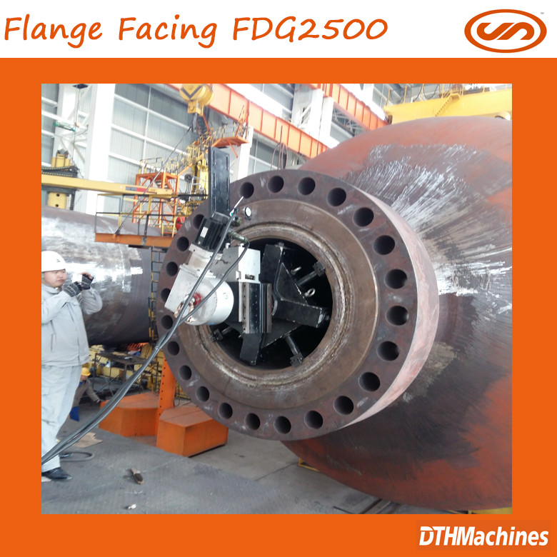 2017 new product FDG1000 Portable Flange repair machine,flange ita 007,ansi/en/092-1/dn/gost/bs4504 flange