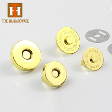 Custom size made round hidden snap metal magnetic button