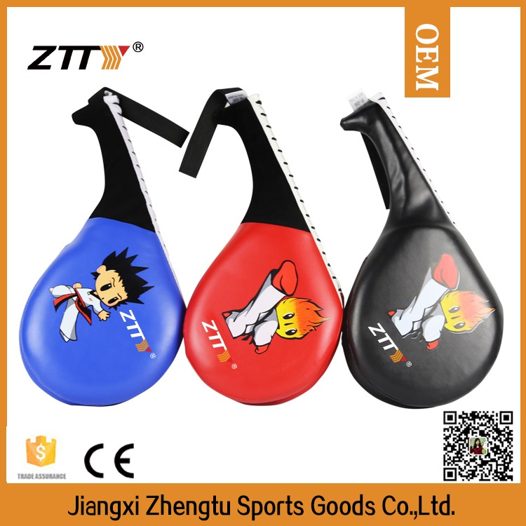 competition and training equipments taekwondo double kicking pad