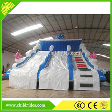 double lane marvelous funfair inflatable water slide, inflatable bouncy house for sale