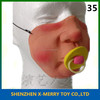 X-MERRY Sucking On A Pacifier Cute Baby Lower Half Face Mask Cute Party Decoration So Fancy Dress Up Latex Mask