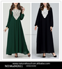 Women Fashion Muslim Dress Jilbabs and Abayas Loose Plus Size Islamic Dresses(Mu042611)