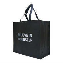 logo custom printing non woven reusable zipper shopping tote bag