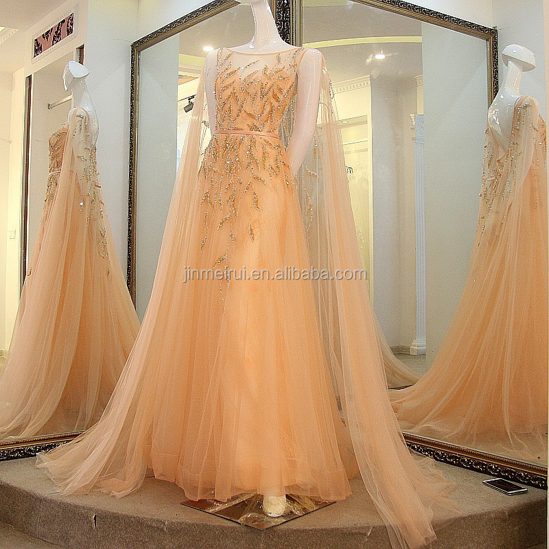 New Style Romantic Wedding Dresses Vestidos de Noiva Fashion Sheer Scoop Neck Beadings Bridal Dress Formal Wedding Gowns