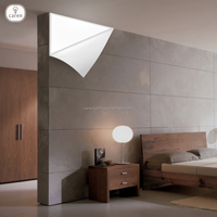 Caren Europe contemporary metal in matt white finish The triangle triangle LED wall lamp