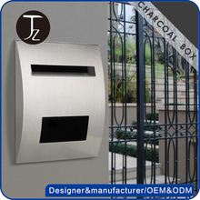 Casting Craftsman,Factory customized stainless steel square mailbox with lock