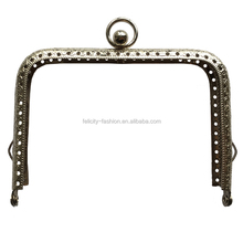 bag closure hardware silver frame with ball purse frame clasp