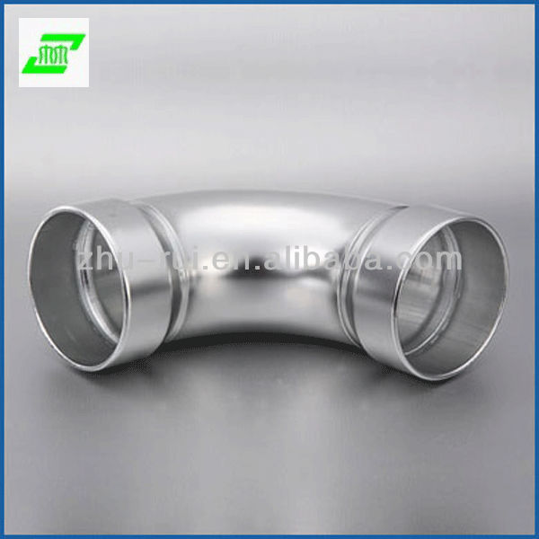 90 120 degree aluminum handrail elbow /stair pipe corner joint/handrail pipe fittings for 50mm pipe