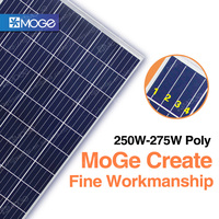 Moge A grade 4BB 250w 255w 260w 265w 270w 275w watt solar panel wholesale in stock