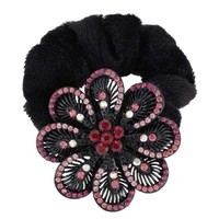 Wholesale Rhinestone Flower Elastic Hair Rubber Band Extensions Hair Accessories 82232 Telephone Hair Band