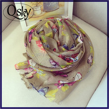 Butterfly Silk scarf wholesale china bask in scarvs