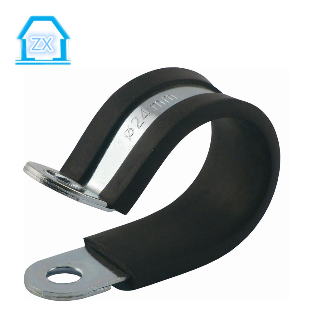 EPDM galvanized iron p type pipe clips