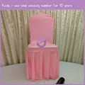 YT00141 pink rosette pleated box skirt spandex fancy chair cover