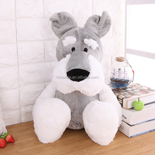 soft gray schnauzer puppy dog plush stuffed <strong>toys</strong> direct from china