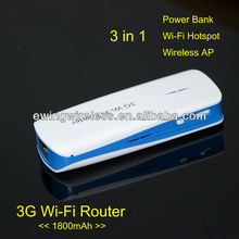 1800mAh Mobile Power mobile 3G Rouer Support Multimedia