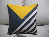 pillow case home decorative cushion cover yellow blue geometrical pillow cover line/cotton blend cushion for sofa home new house