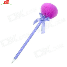 plush fur ball pens for school student