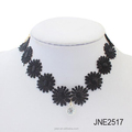 Charm.L Grace black Lace Gothic Lolita crystal Pendant Choker Necklace