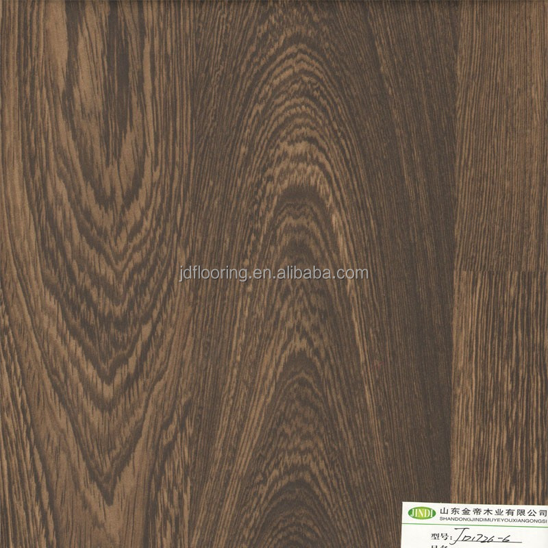 wenge wood two strips design laminated flooring 8mm high gloss flooring